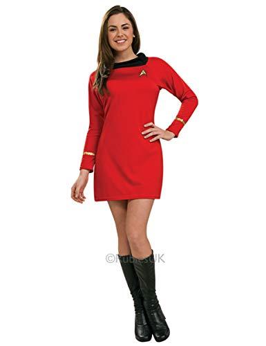 Generique - Star Trek-Uhura-Kostüm für Damen Lizenz rot M