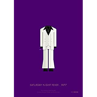 Tribute Art Work Print (by Fred Birchal) Of Saturday Night Fever 1977 - Printed on 300 GSM Paper - Poster with Mount