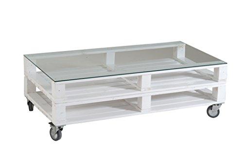 castagnetti 1928 pallet tavolino doppio rettangolare rovesciato con vetro legno abete. Black Bedroom Furniture Sets. Home Design Ideas