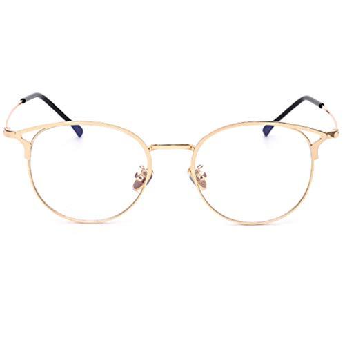 YUNCAT Anti Blaulichtfilter Brille Retro Katzenauge Metal Round Brillen Rahmen Computer Brille