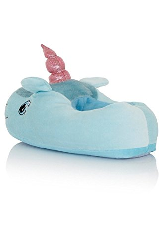 Kadcope Fantasy Unicorn Soft Pantouches en peluche Slip On Adult Compatible avec la taille européenne: 37-42 Blue-red