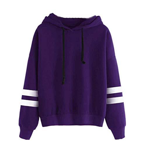 Kapuzenpullover Damen,Innerternet Damen Hoodies Langarm Pullover Solide Casual Sweatshirt Pullover Bluse Oberteile Herbst Winter Bekleidung -