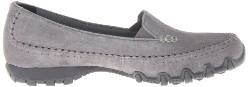 Skechers Bikers Pedestrian Damen Sneakers Charcoal Suede