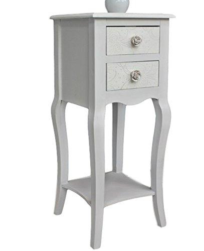 Noche – Mesa Auxiliar de Color Blanco Beige Rose rústico Mesa de ...