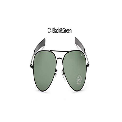 Daawqee Prämie Sonnenbrillen,Brillen, Classic Hot Sunglasses Men UV Sun Glasses For Male American Army Polarized Optical Glass Lens Oculos