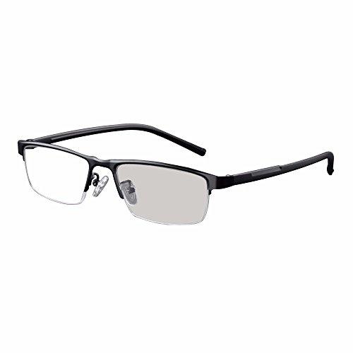 übergang photochromic lesebrille optische myopie individuelle stärke metallrahmen mit fall uv400 sonnenbrille