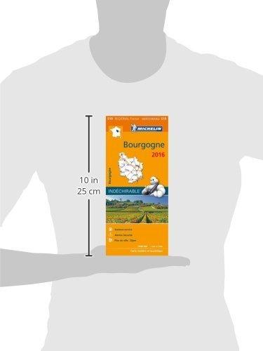 Carte Bourgogne 2016 Michelin