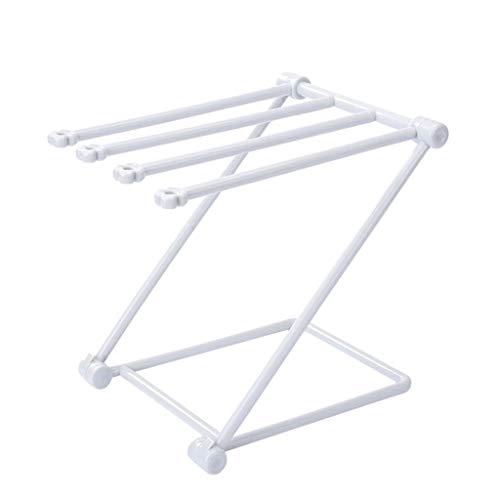 Lagerregal,Rifuli®Duschregal Regal Organizer Küche Bad Multifunktionale Handtuchhalter Aufhänger Zusammenklappbarer Kunststoffhalter -