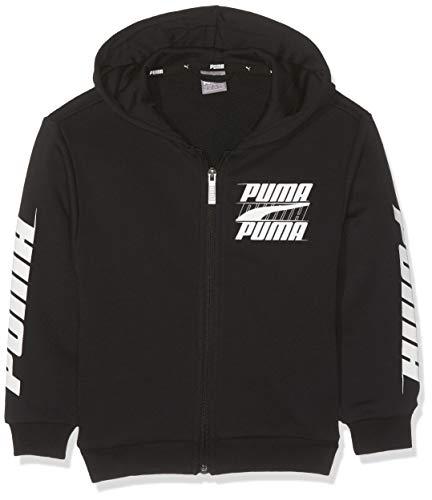 Puma Jungen Rebel Bold Hooded Jacket TR B Sweatjacke, Cotton Black, 152 (Puma Kleidung Für Jungen)