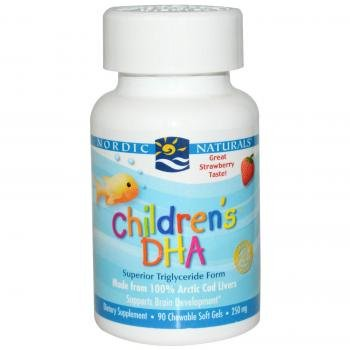 Nordic Naturals - Children's DHA, Healthy Cognitive Development and Immune Function, 90 Soft Gels -