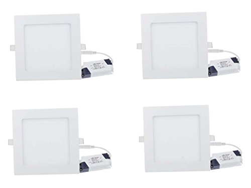 Citra 12W LED Panel Light - Pack Of 4 (Warm White)