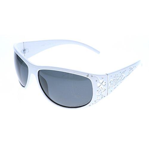 VOX Polarisierend Trendy Klassisch Hohe Qualität Damen Hot Modische Sonnenbrille w/GRATIS Mikrofaser Beutel - Weißer Rahmen - Rauchglas