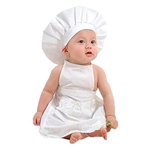 Hut Kostüm Set Schürze Urlaub & - ZOYLINK Baby Chefkostüm Foto Prop Set Kochmütze Schürze Fotoausstattung für Inflant