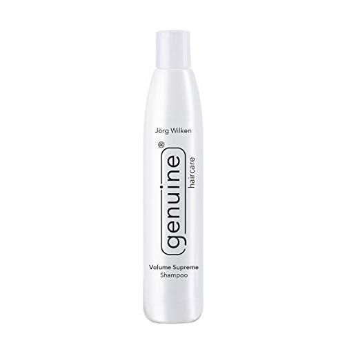 genuine haircare Volume Supreme Shampoo für sehr feines Haar, fettende Ansätze, mindert Haarausfall, gegen Spliss/Frizz, für Volumen/Fülle, für Extensions, 250ml