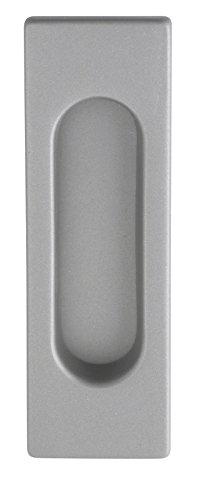 Muschelgriff Schiebetür Einlassgriff eckig Schiebetürgriff vernickelt matt - Modell 3663 | 125 x 40 mm | Baubeschläge von JUVA®