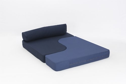 Rebecca Sofa Bed in NAVY/ MID BLUE Cotton Drill