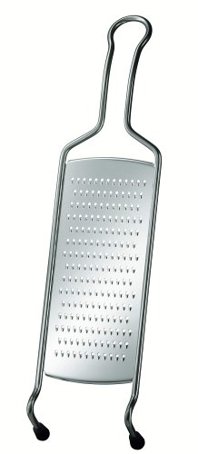 RÖSLE Feinreibe mit Drahtgriff, Edelstahl 18/10, 40,5 x 10,2 x 3,1 cm, Silikonfüße, Spülmaschinengeeignet