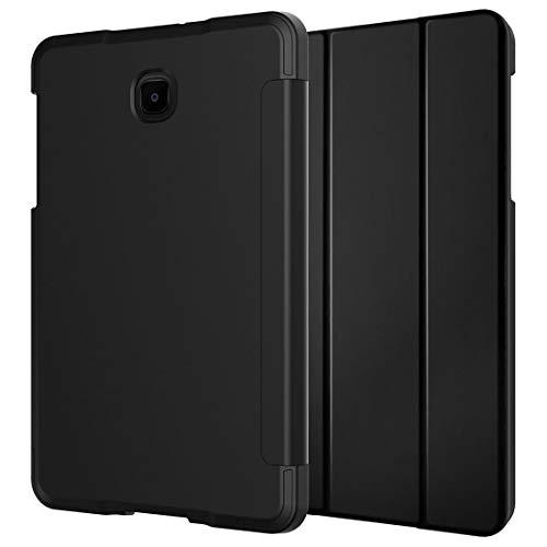 Rom Tech OEM Bundle für Galaxy Tab A 8.0 (2018) SM-T387 Verizon/Sprint/T-Mobile/AT&T, stoßfeste Folio-Schutzhülle mit Displayschutzfolie aus gehärtetem Glas für Samsung Galaxy Tab A 8.0 - Schwarz (Verizon-telefon-zeit)