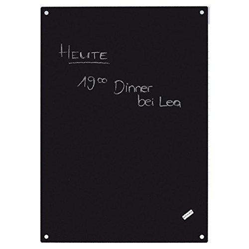 First4magnets TF-GK8310 schwarz A4 magnetische Kreide Board c/w 5 Magnete, Metall, silber, 40 x 20 x 5 cm (Kreide Board)