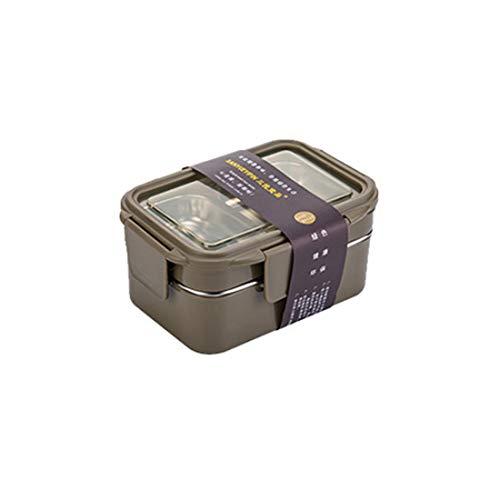 2 Fächer Bento Boxen, leckagesichere Lunchboxen, 42.33 oz (1,2 L), Edelstahl Lunchcontainer für Kinder, Erwachsene, Büro, Schule BPA kostenlos(Grün) - Rosa Erwachsenen-lunch-box