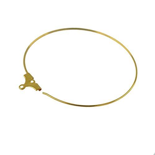 Electroprime® 120pcs Brass Loop Earring Findings DIY Ear Beading Wire 6 Colors Jewelry