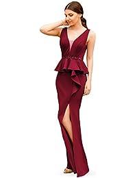 e675d40adf Ever Pretty Women s A-Line Floor Length V Neck Party Evening Dress 07271