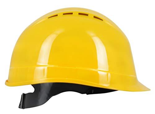 Silent SL1470 Casco de Seguridad Industrial, Casco de construcción rígido, ventilado, arnés de 6 Puntos, Certificado EN 397 y A1, Amarillo