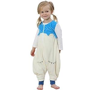 bebé niños niñas Mono Ropa de Dormir Animal Dinosaurio Saco de Dormir con Pierna Dividida 5