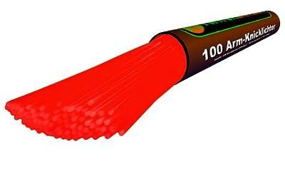 200 Arm-knicklichter Feuerrot Spar-set Mit 404 Teilen - Komplett-set Fabrikfrische Qualittsware Unter Eigenem Label Produziert Geprft Durch Hansecontrol von KnickLichter.de