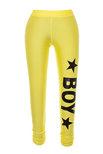 BOY LONDON - Leggins donna con stampa bl590 Giallo