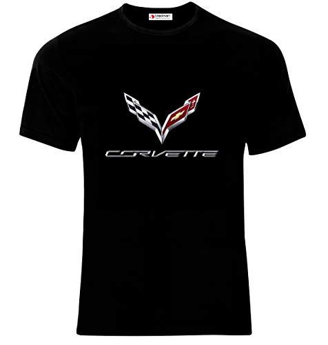 Chevrolet Corvette Logo GM Sport car Männer Printed T-Shirt (L) -