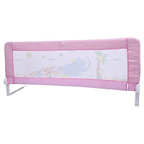 zgitter Klappbar Tragbares Faltbar bettschutzgitter für Baby Kinder 180 cm/ 150 cm (Rosa/Blau) (Rosa 150 cm) ()