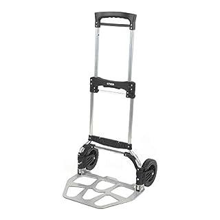 STIER Sackkarre klappbar, Aluminium Transportkarre, Belastbarkeit bis 100kg, Stapelkarre zum Transportieren