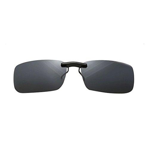 NoyoKere Unisex Polarisierte Clip On Sonnenbrille Fahren Nachtsicht Objektiv Anti-UVA Anti-UVB Radfahren Reiten Ausrüstung Clip Grau