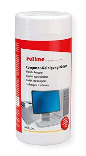 ROLINE Reinigungstücher | Dosierspender für antibakterielle Tücher | Universell einsetzbar | Inhalt: 100 Stück