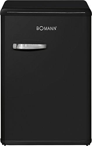 Schwarz Im Retro-design (Bomann VSR 352 Vollraumkühlschrank Retro-Style, EEK A++, 88 kWh/Jahr, 130 L, HxBxT: 86x55x56,8 cm, Chromgriff im Retro-Design, Innenraumbeleuchtung, stufenlose Temperaturregelung, Abtauautomatik, schwarz)