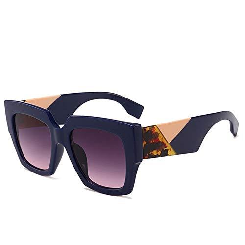 XHCP Frauen Polarisierte Klassische Aviator Sonnenbrille, Übergroße Unregelmäßige Bunte Vollformat Sonnenbrille Für Frauen Männer UV Schutz Für Fahren Urlaub Sommer Strand (Farbe: C6)