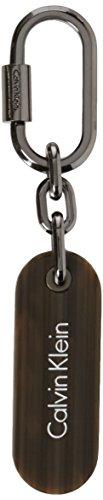 Calvin Klein Damen Gifting Calvin Plaque Charm Schlüsselanhänger, Silber (Shiny Gunmetal), 3x1x8 cm