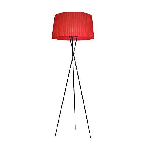 DJSMLDD Stehleuchte minimalistische Moderne Kunst Stoff Stativ Nacht Schlafzimmer Wohnzimmer kreative DREI Farboptionen (Farbe : Rot)