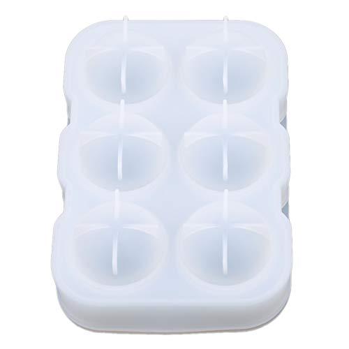 Sevenfly Sphere Round Ice Ball Maker Silikon Eiswürfelbehälter Eiswürfelform Aufbewahrungsbehälter, Weiß (Jelly Dekor Ball)