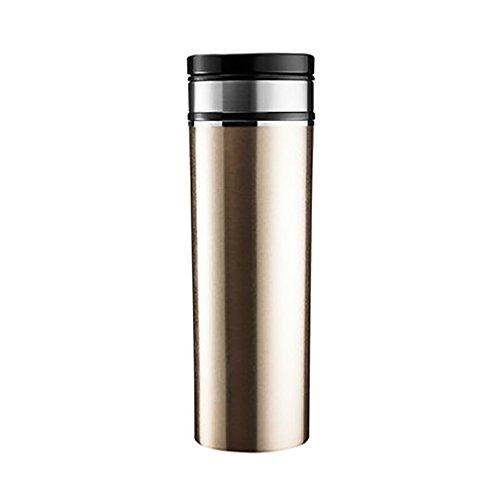LPY-380ml Edelstahl elektrische Heizung Cup, Dc 12V, im Auto Zigarettenanzünder verwendet, das Wasser sein braucht nur 10 Minuten brauchen, verwendet für Kaffee, heiße Getränke, gekochtes Ei auf dem Auto zu reisen , Gold Gold-ei Cup