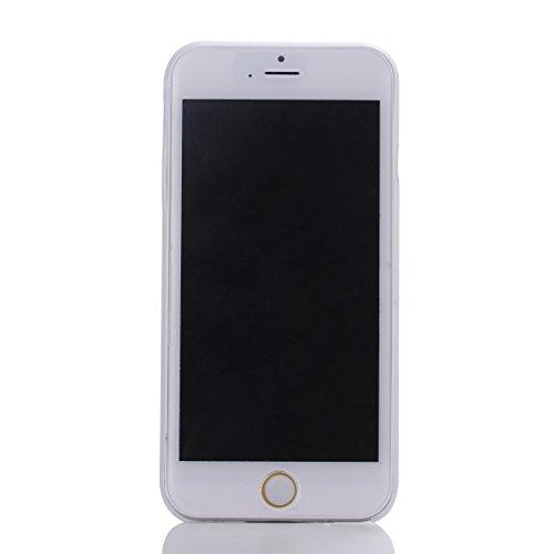 Liamoo® Apple iPhone 6 / 6s (4,7 Zoll) ultra dünne (ultra thin) Schutzhülle / Hülle / Bumper / Case / Cover - Hoher Schutz vor Staub / Kratzer / Stößen / Stürzen / Fallschutz mit Kameraschutz in Weiß  weiss transparent