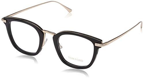 Tom Ford Unisex-Erwachsene Ft5496 Brillengestelle, Schwarz (NERO LUCIDO), 47