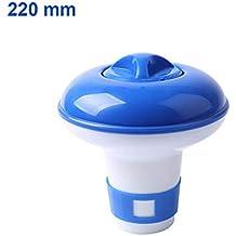 Domeilleur Mini tamaño Piscina Flotante Pastillas desinfectante dispensador automático Flotante Caja de Medicina, ...