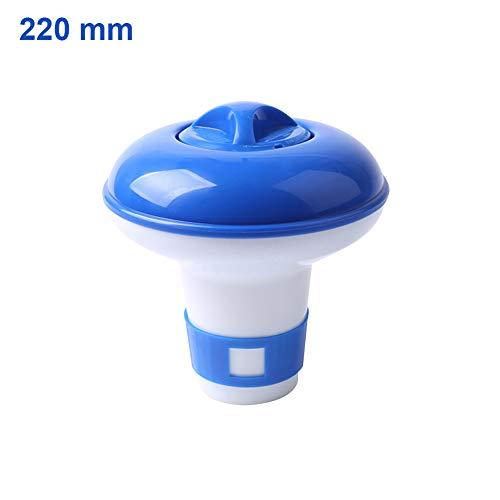 Domeilleur Mini tamaño Piscina Flotante Pastillas desinfectante dispensador automático Flotante Caja de Medicina, 220mm