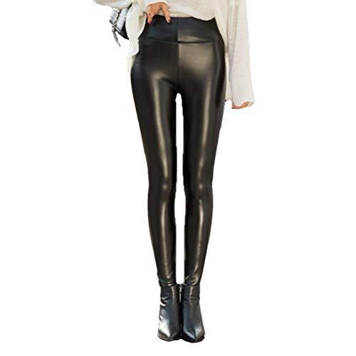 SJZC Leggins Donna Leggings Termici Invernali Pantaloni Fitness Modellante Legins Legghins004,2XL