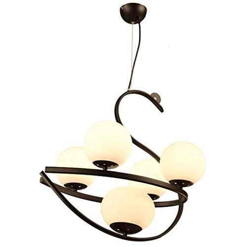 C-L Lampe Pendelleuchten Eisen Retro Kronleuchter Restaurant Einfache Europäische Schlafzimmer Led E27 Glühbirne Kronleuchter, Weißes Licht -