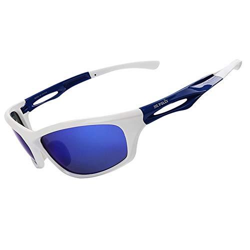 Daesar Sportbrille Radfahren Weiß Sicherheitsbrille Brillenträger Motorradbrille Herren