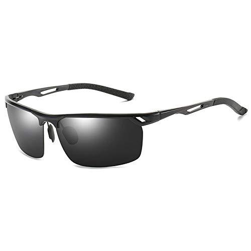 Outdoor-Sportarten Reiten Reisen Strand Meeresschutz UV400 Herren/Damen Farbe Randlos Undurchsichtig Polarisierte Sonnenbrille Brille (Farbe : Black)