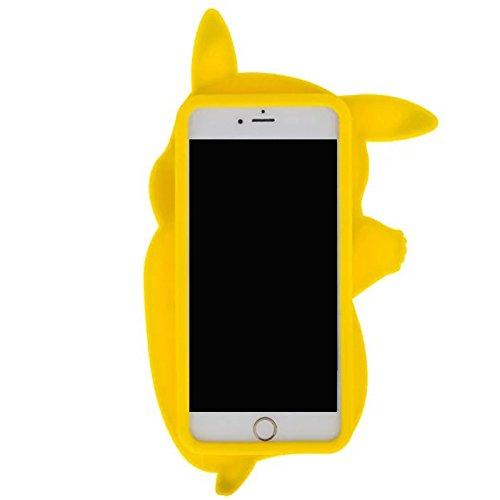 "Iphone 6Plus / 6S Plus (5,5-Zoll) Hülle, Koala Group® 3D-Tiermodellen Silikon Fallschutz -Sets von ""Rainbow / weiße Katze / schwarze Katze / Love Cats / Burger Bear / Shy Affe (Black Cat) Pikachu Dance"